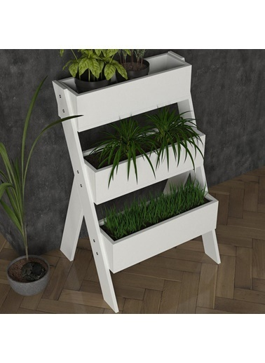 Dekorister Gardenia Çiçeklik Beyaz Beyaz